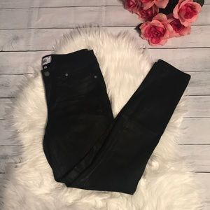 Paige Verdugo Ultra Skinny Black Coated Jean